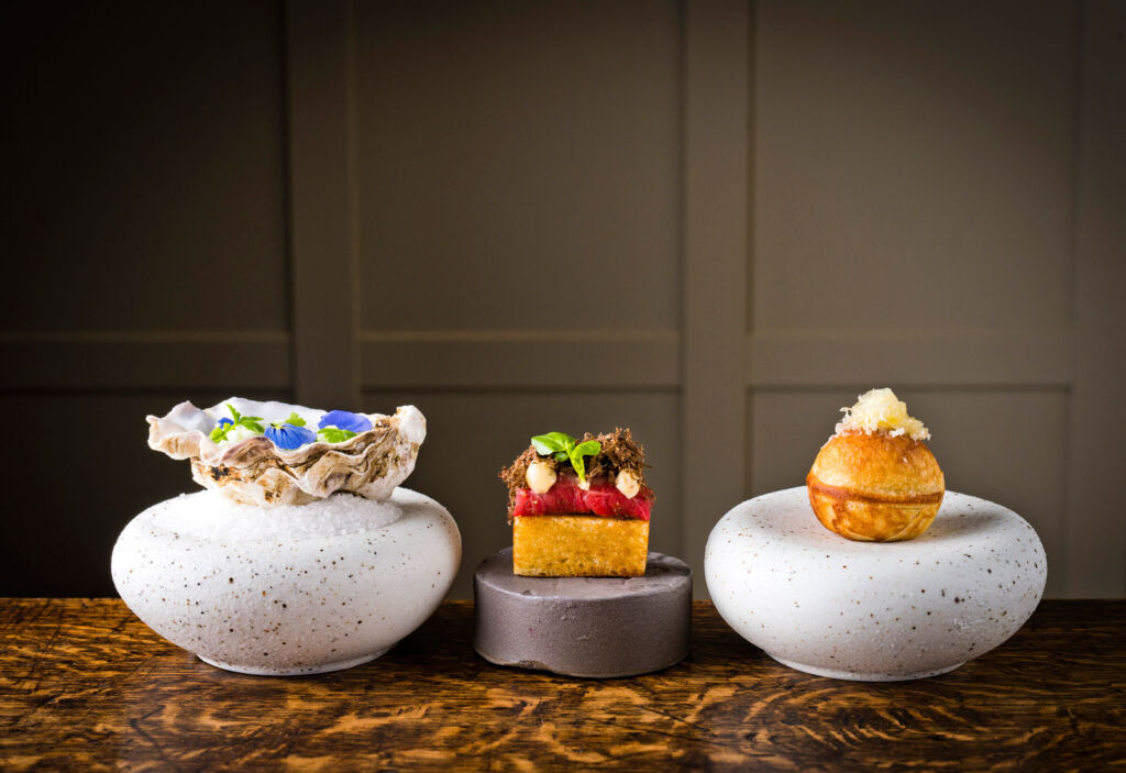 Three of the desserts on offer for guests in the restaurant