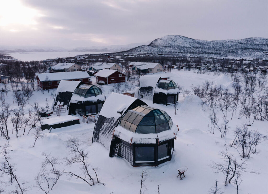 The location in the snow where the igloos are situated