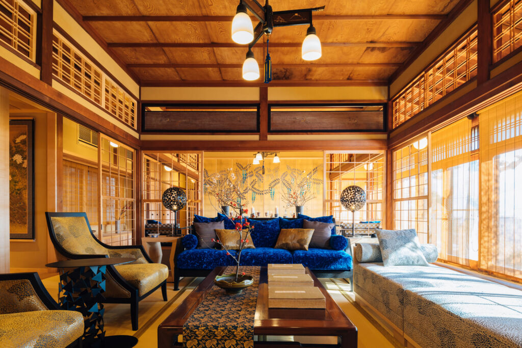 Inside the beautifully decorated Suto Suien villa
