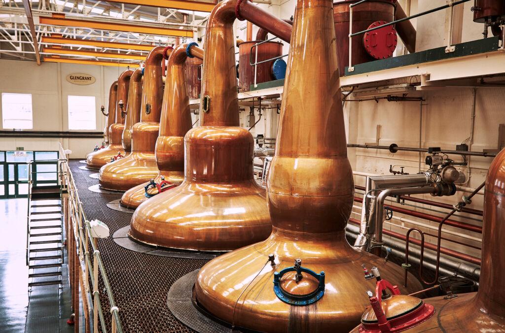 The Glen Grant whisky stills