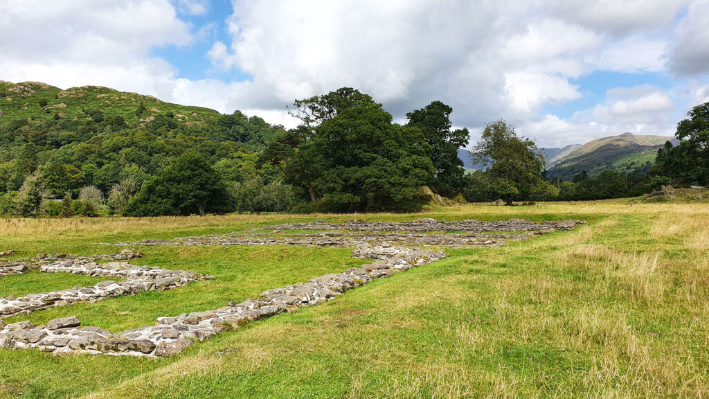 The Roman ruins in Ambleside in the Lake District