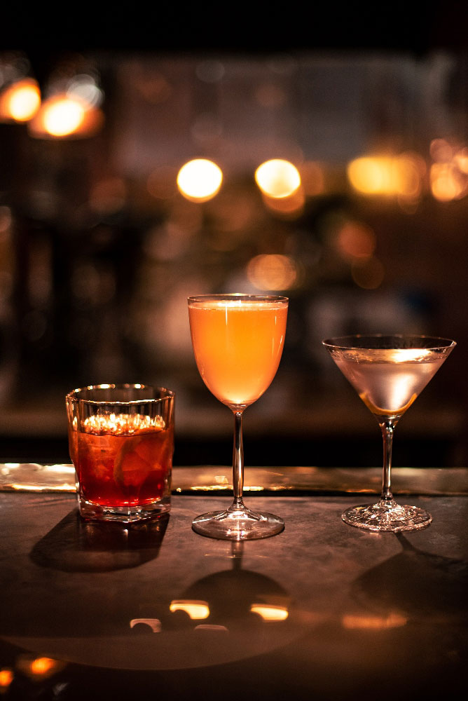 Three of the refreshng drinks on offer at The Shortmarket Club