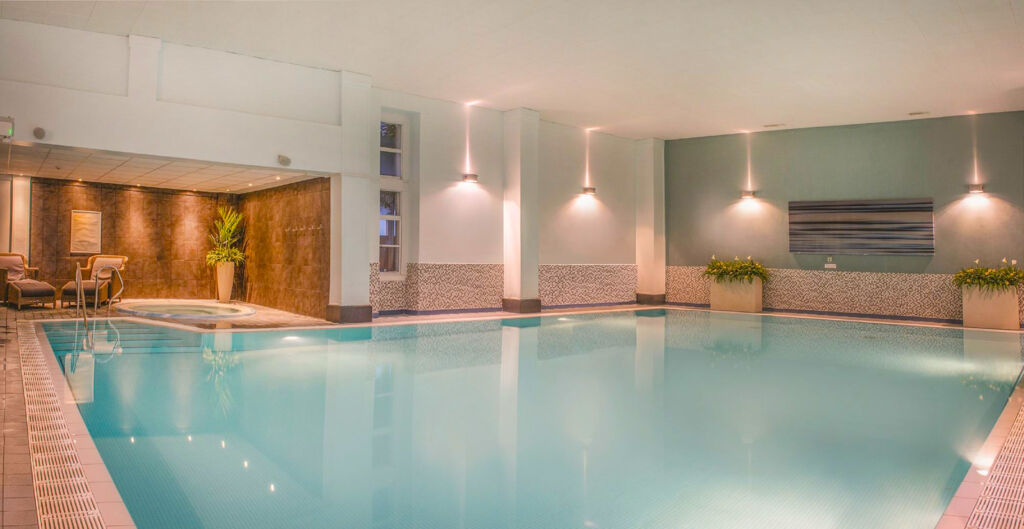 The swimming pool at the spa
