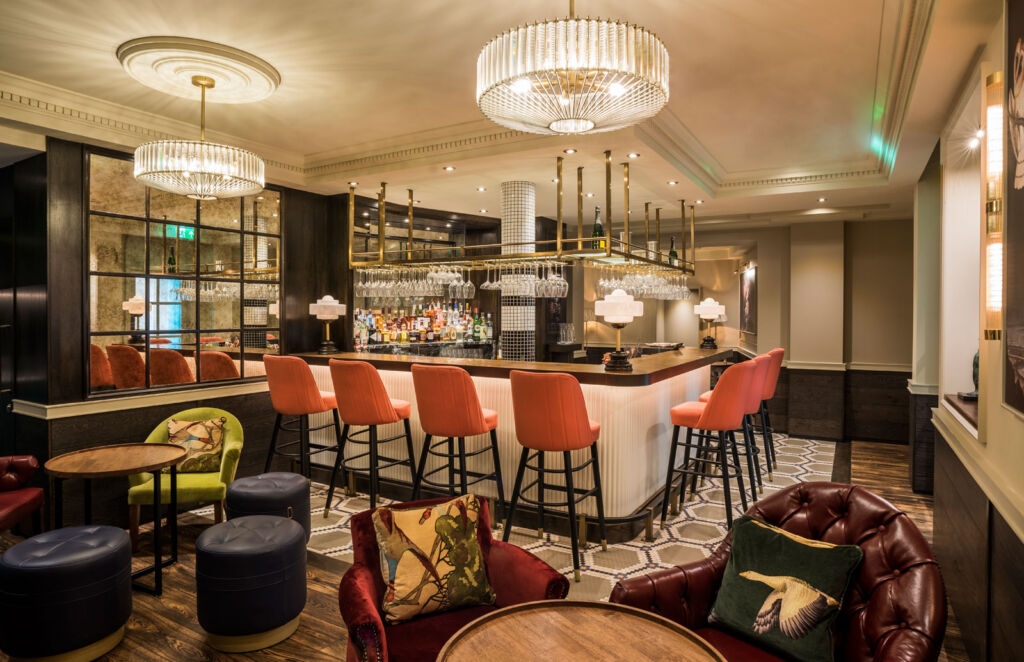 A look inside the hotel and restaurant's bar
