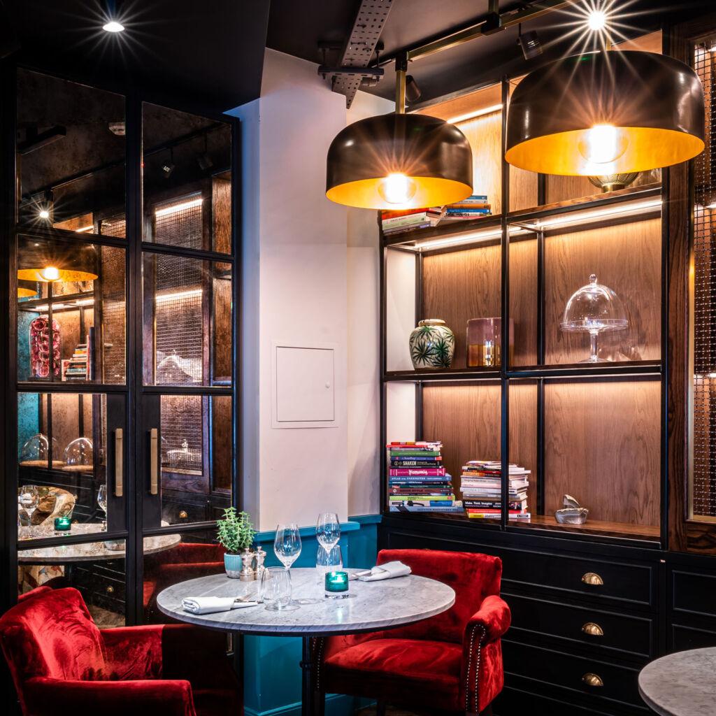 Inside the restaurant at Sloane Place