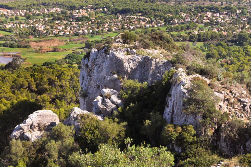 A view over Puig de Sa Morisca archaeological park