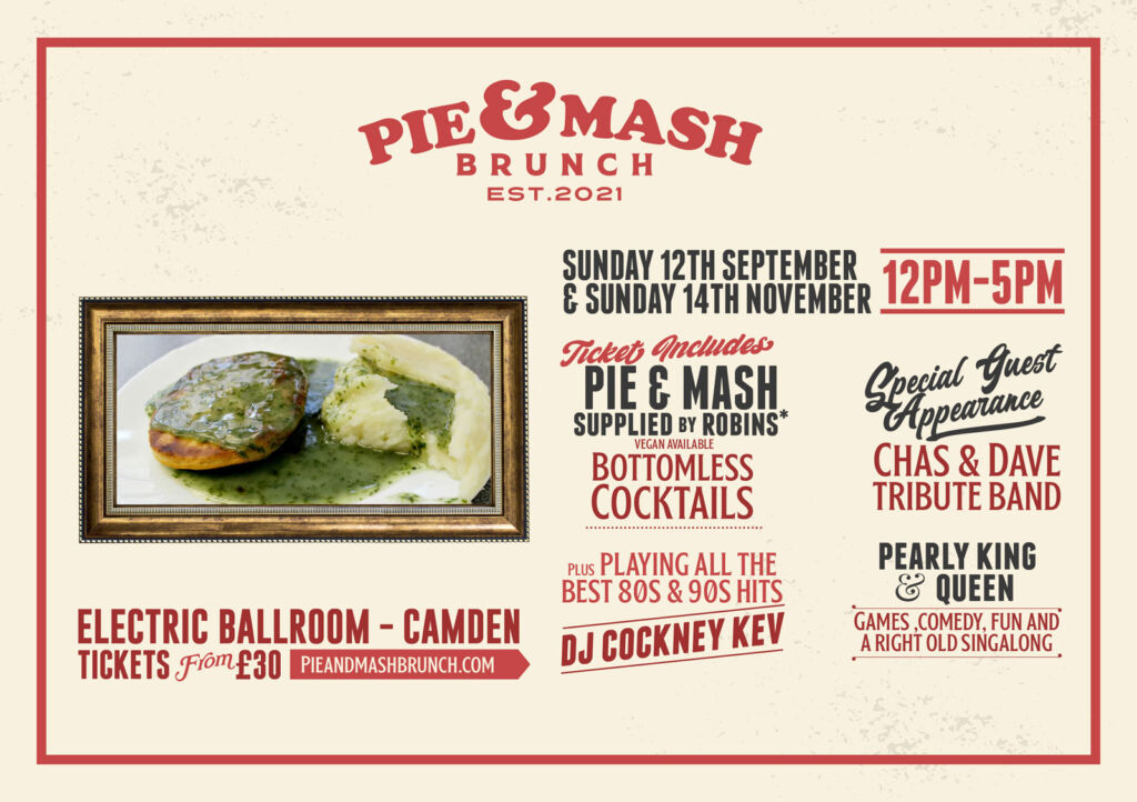 Details of the UK's first Pie and Mash Brunch