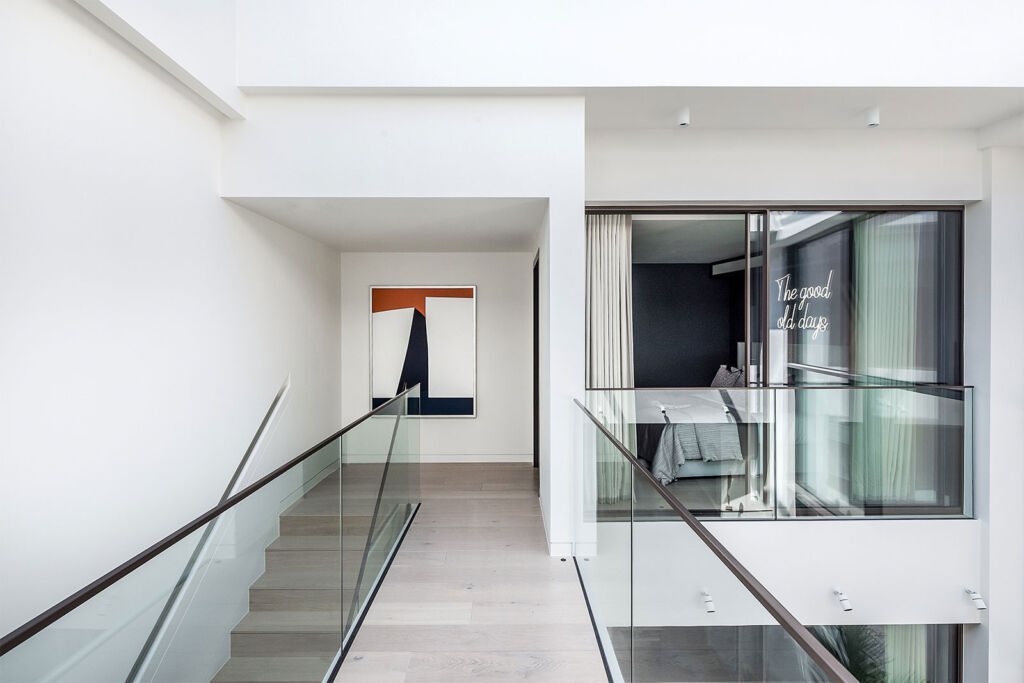 Another view of the interior of the W1 townhouse, this time the main hall on the first floor