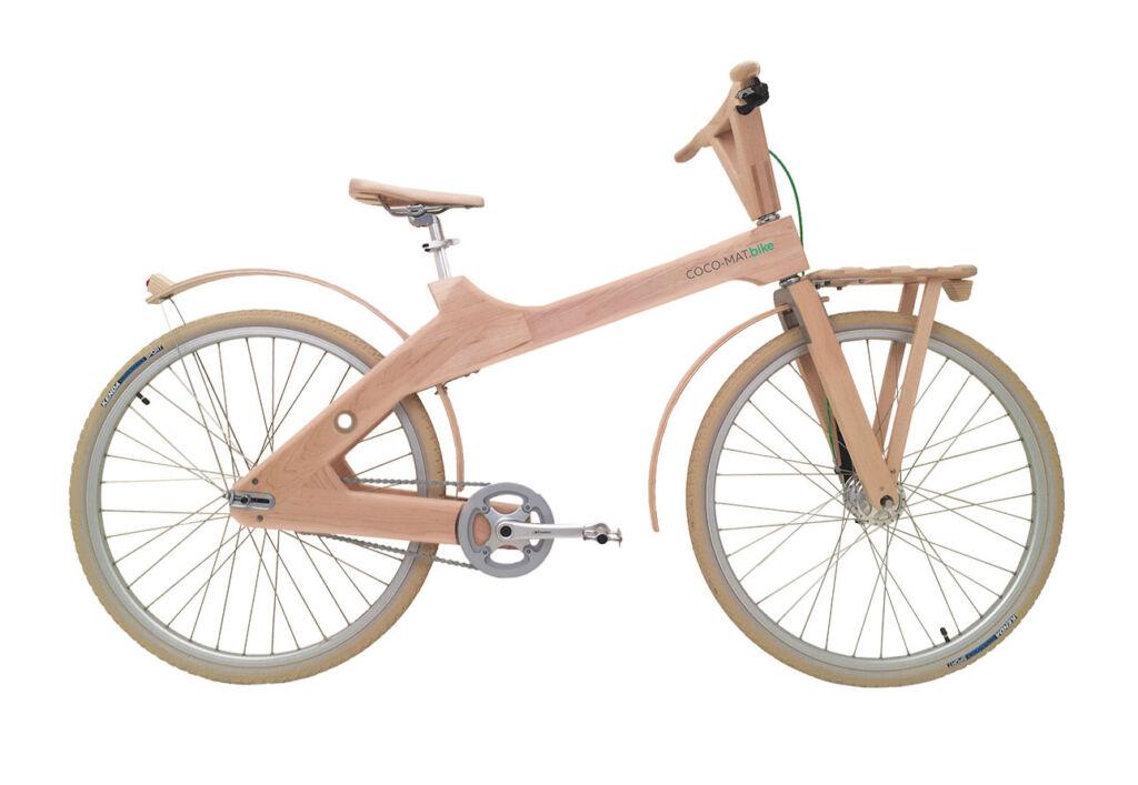 The Odysseus 7-Speed wooden bike