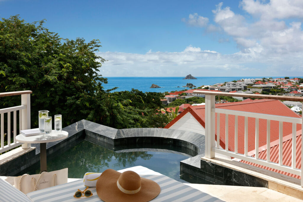 A view from one of the private pools