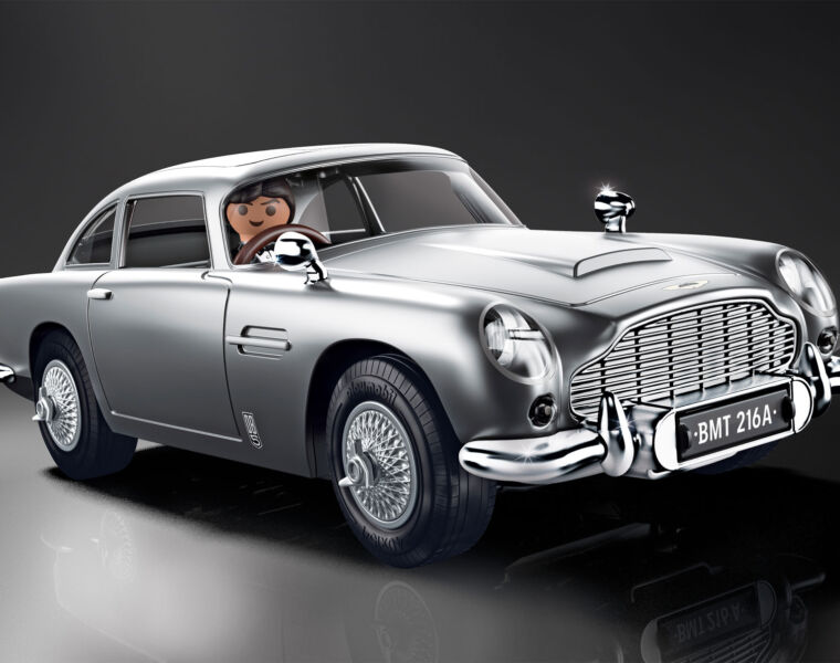 The James Bond Aston Martin DB5 Goldfinger Edition from PLAYMOBIL