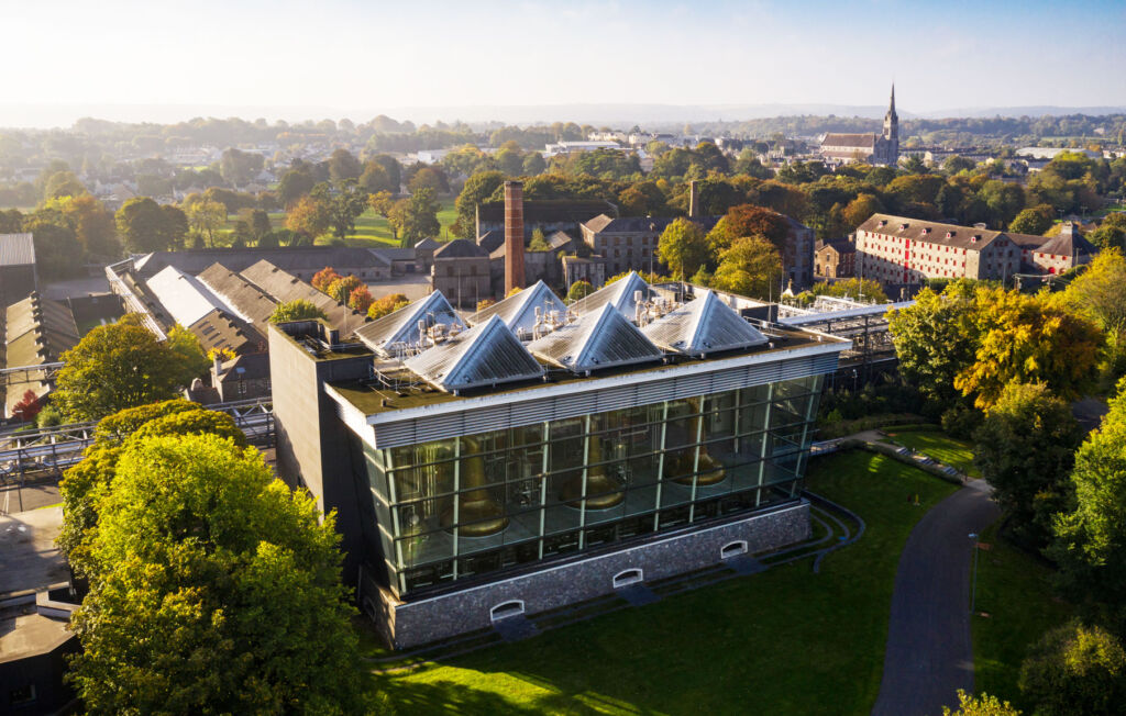 An aerial view of the Redbreast Irish Whiskey Distillery