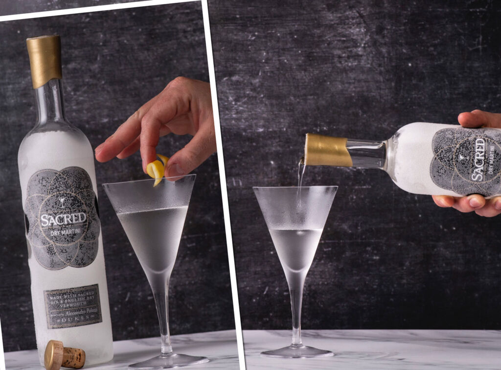 Pouring and making the perfect 007 cocktail