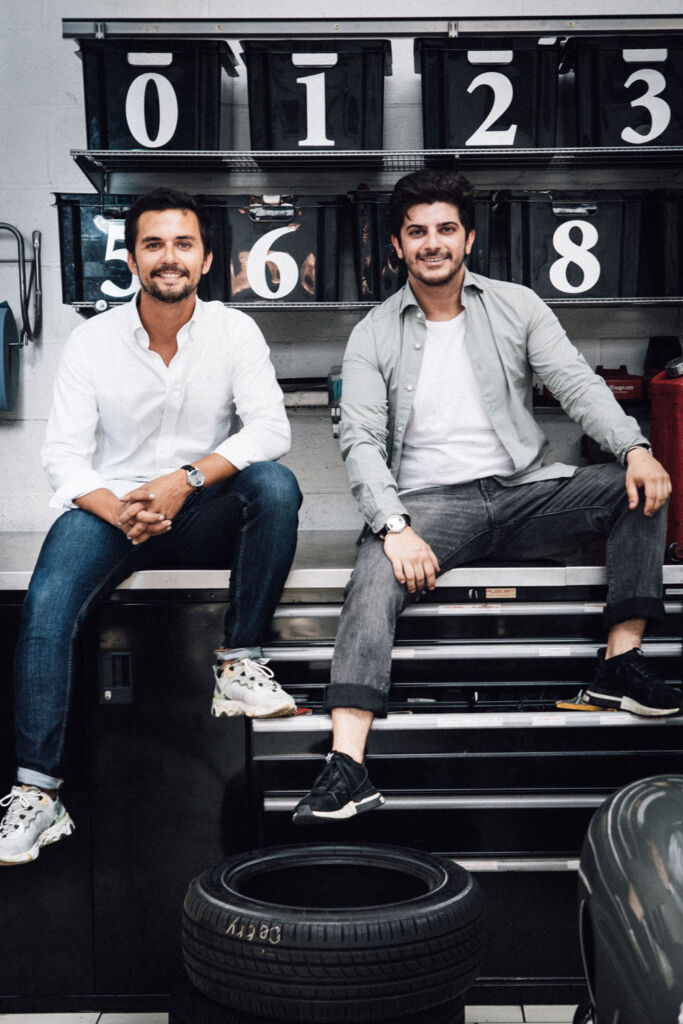 The two founders of this new watch brand