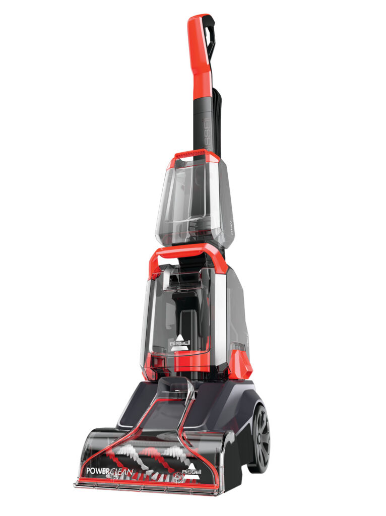 A view of the carpet cleaner from the front
