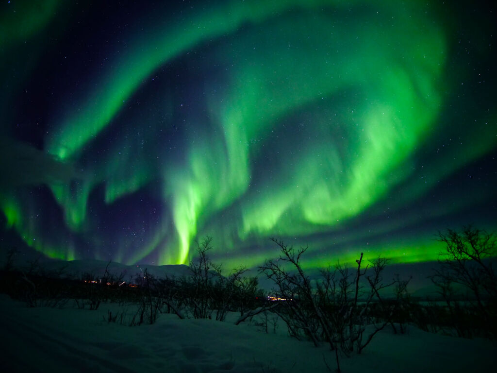 A different view of the Northern Lights from the Aurora Sky Station