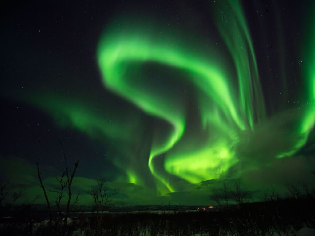 The Northern Lights as seen in Sweden