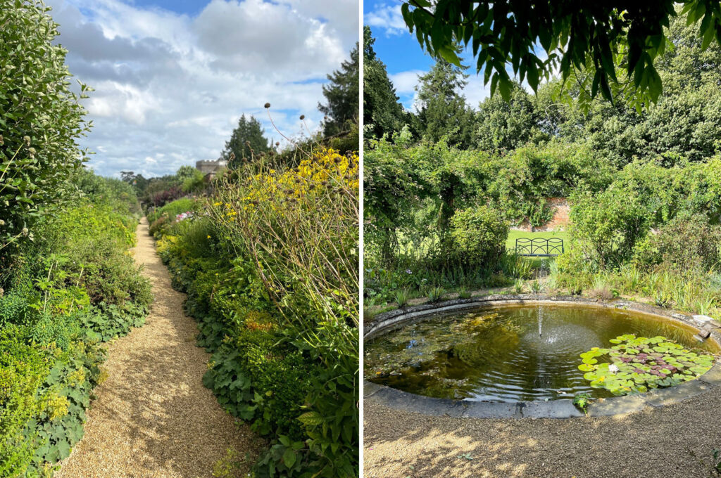 Views of the gardens at Rousham in Oxfordshire