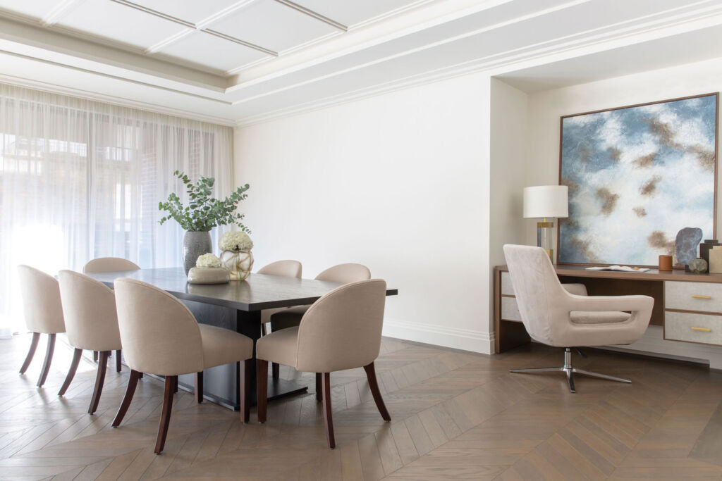 An excellent example of how a piece of art can transform the look and feel of a room