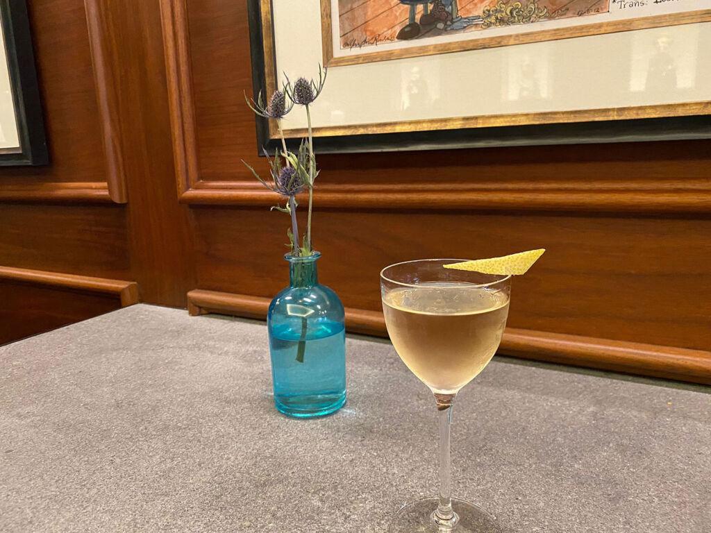 The Vesper Vodka Martini cocktail ready to drink